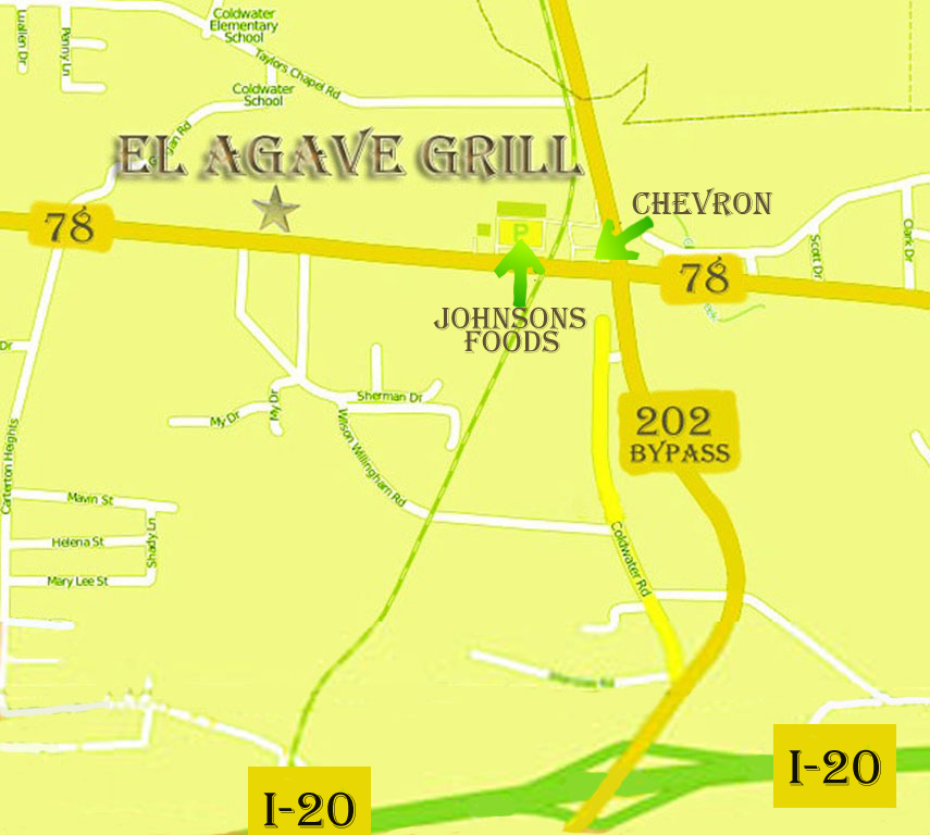 El Ageve Grill Map